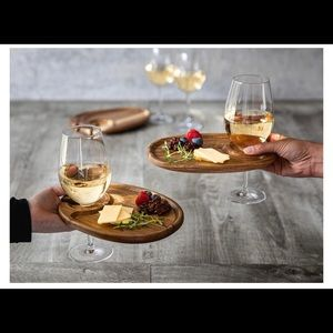 Wine Appetizers plate Set of 4